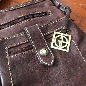 Giani Bernini Bags - Gianni Bernini genuine leather cognac crossbody